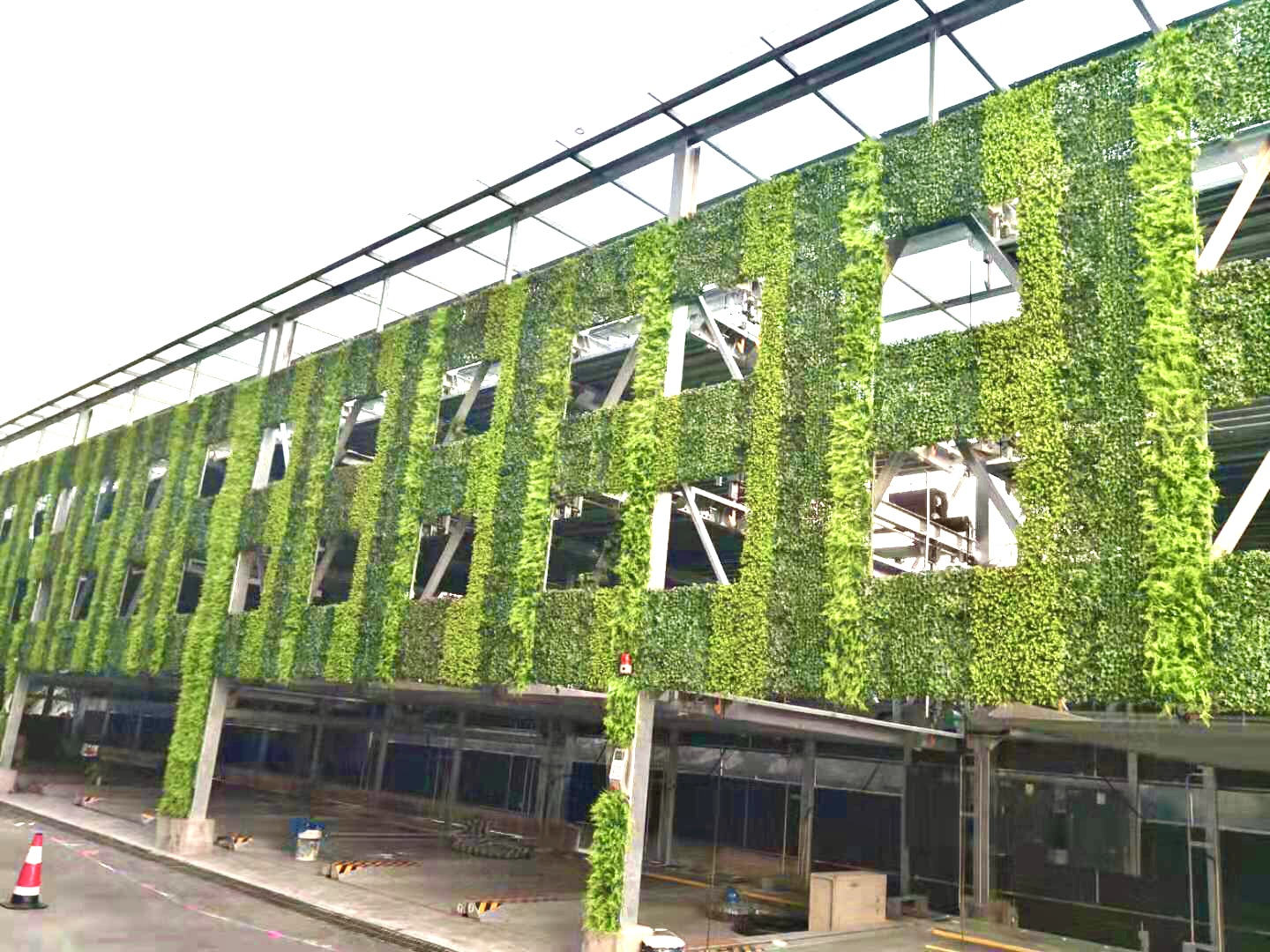 exterior artificial green wall